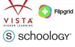 Students log onto sites including Vista Higher Learning, Schoology and Flipgrid to complete their assignments.