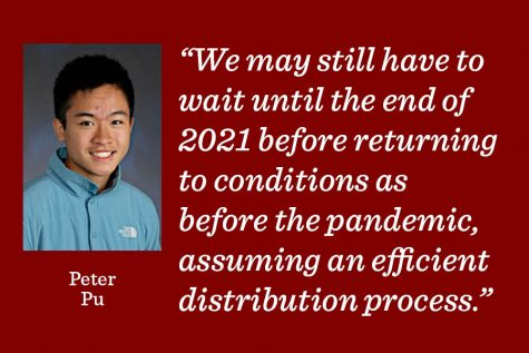 We may still have to wait until the end of 2021 before returning to conditions as before the pandemic, assuming an efficient distribution process, writes news editor Peter Pu.