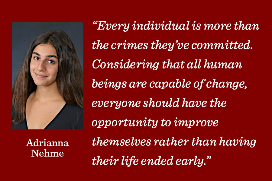 The+death+penalty+has+been+part+of+justice+systems+throughout+the+world+for+centuries%2C+but+this+does+not+mean+that+it+is+still+acceptable+in+the+world+today%2C+writes+Assistant+Editor+Adrianna+Nehme.