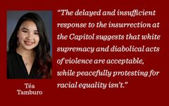 The law enforcement response to the attack on the Capitol demonstrates a need to acknowledge and scrutinize the white supremacist roots of our country, writes Midway content manager Téa Tamburo.