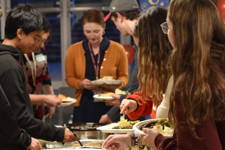 Students in 2019 enjoyed Eid dinner in Café Lab.  Members of Muslim Students Association look toward second semester for opportunities to host in-person events.
