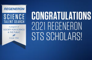 The Regeneron Science Talent Search honors 300 scholars who receive   2,000 dollars for their research in math or science.