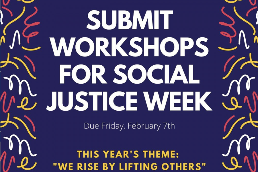 Students and faculty may submit workshops for Social Justice Week until Feb. 7.