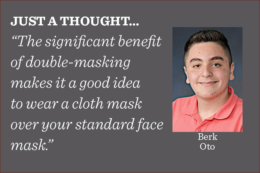 Everyone should double-mask when going outside and make sure their disposable masks are securely fitted to their face, writes managing editor Berk Oto.