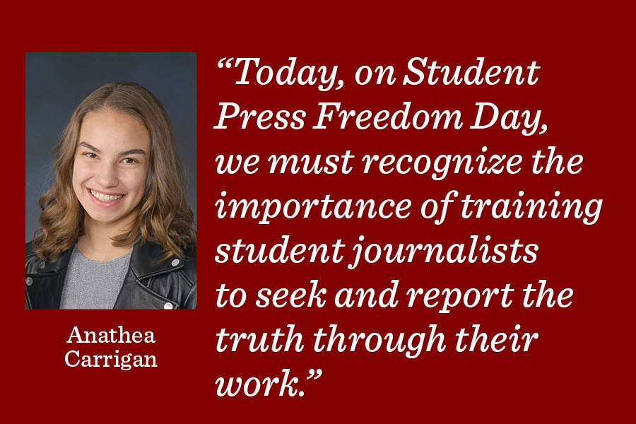 As fake news and biased reporting continue to expand pervasively, it's crucial to train the next generation of student journalists to seek and report the unbiased truth, writes opinion editor Anathea Carrigan.