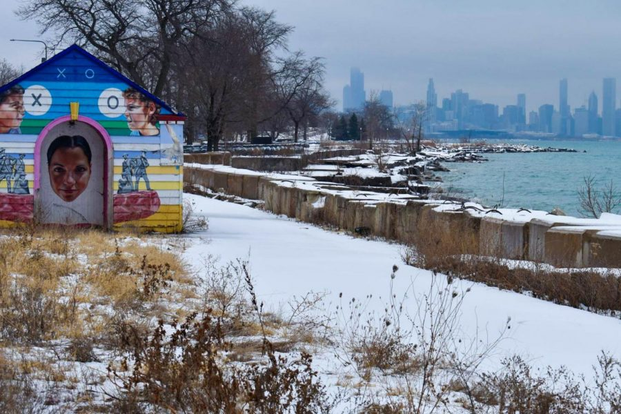 The+Lakefront+Trail+is+an+18-mile+path+that+follows+the+Lake+Michigan+shoreline.+Since+Ms.+Anderson+was+used+to+running+on+the+lakefront%2C+she+was+glad+to+discover+different+outdoor+locations.