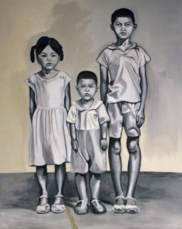 1964 China Inspired by her father's experience growing up during the Great Chinese Famine, artist Ellen Ma painted a portrait of him and his two siblings as children.