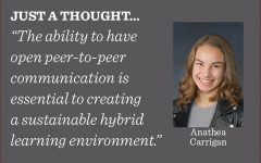 As students prepare for a hybrid learning model, they should work to uphold social distancing guidelines for the health and the safety of their peers, writes opinion editor Anathea Carrigan.