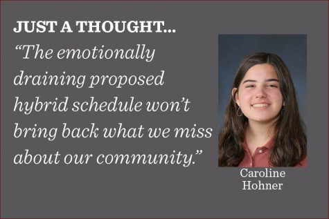The transition to hybrid learning will disrupt the daily routines of students, which some rely on for emotional stability, writes arts co-editor Caroline Hohner.