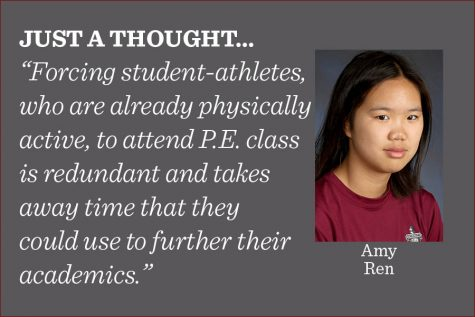 Student-athletes should be able to opt out of P.E. classes, writes reporter Amy Ren.