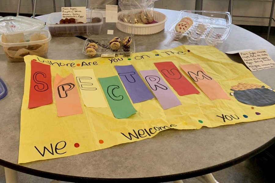 Spectrum hosts a bake sale during 2019.