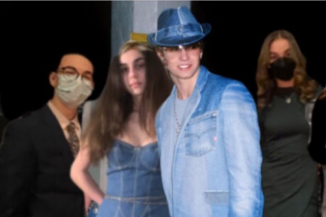 The Jalapeño Poppers, this year's winners of the Hunt, pose for an unlikely photo with Justin Timberlake. For one of the annual scavenger hunt's challenges, juniors Ben Luu, Adrianna Nehme, Alina Susani and Saul Arnow had to create an image of themselves with their favorite celebrity.