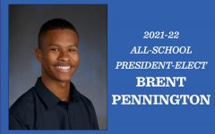 Brent Pennington moved from being Junior Class president to all-school president.