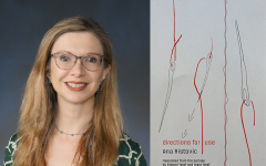 English teacher and literary translator Maja Teref, pictured alongside Directions for Use, a published collection of her translations, is working to share her life-long passion for literary translation with Lab students.