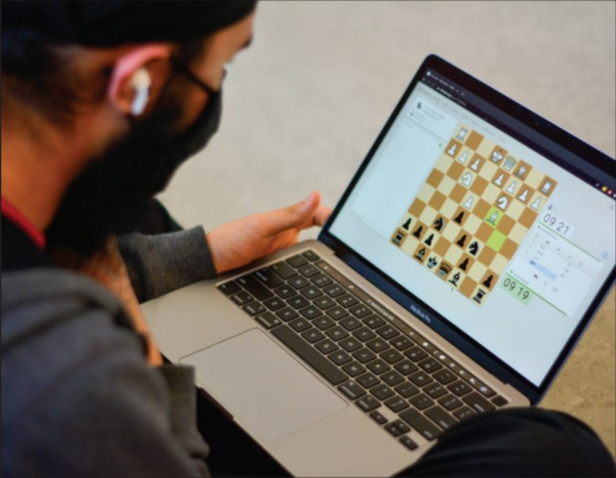 Chess boards serve as common ground for online, in-person students