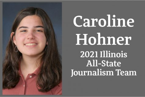 Caroline Hohner has been named to the Illinois Journalism Education Association's All-State Journalism Team.