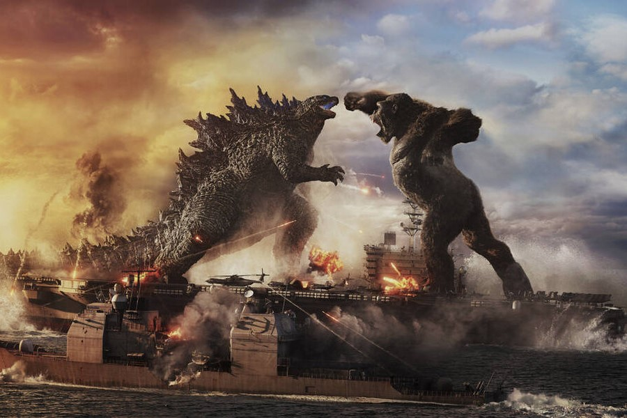 "New movie ""Godzilla vs. Kong"" released on Mar 31."