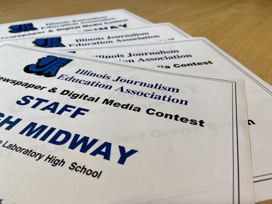 The U-High Midway won 15 first place awards in the 2021 Illinois Journalism Education Association Newspaper and Digital News Media Contest.