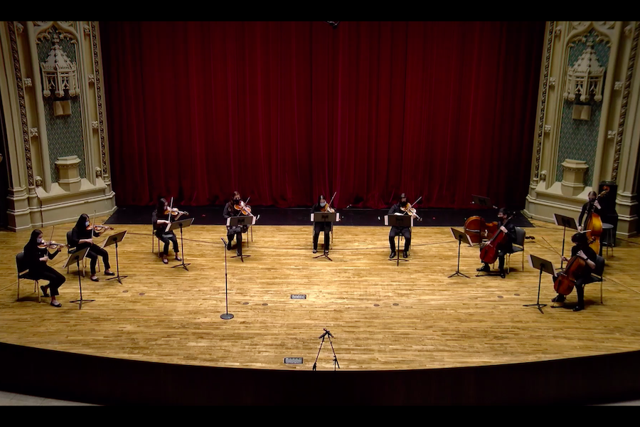 The U-High Chamber Collective performed for a limited audience in Mandel Hall on May 13.