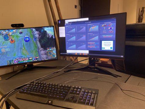 "Online game ""League of Legends"" is set up on junior Brandon Bosquette"
