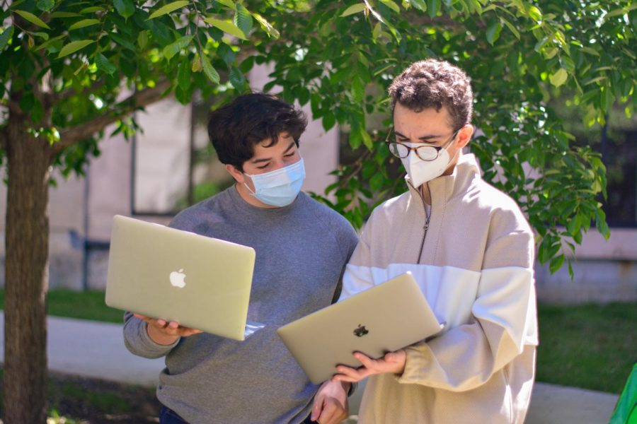 Juniors Ben Sachs and Saul Arnow, along with the rest of the U-High Progressives club members, will have to navigate adjusting club activities to a more normal school year.