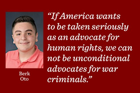 If the United States wants to be taken seriously as an advocate for human rights, we can not be unconditional advocates for war criminals.