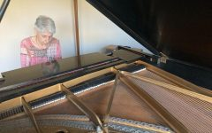 """Pianist Laura Fenster has played for friends, neighbors and the public during the pandemic. She gave open-air performances in her backyard and online concerts through Zoom. """"There's something that's just electric when it's live that I think just doesn't come through with recorded concerts,"""" Ms. Fenster said."""