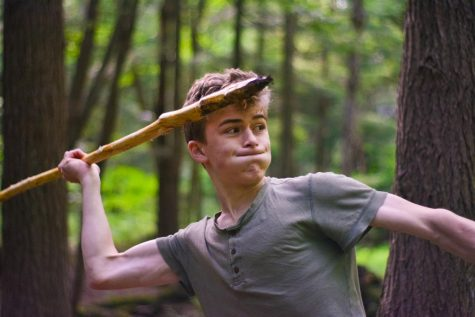 Senior Loren Calleri brandishes a handmade spear. On a seven-day backpacking trip through the Allegheny Mountains, Loren, alongside Julien Deroitte and several other Lab seniors, spent time enjoying the outdoors and strenghthening bonds.