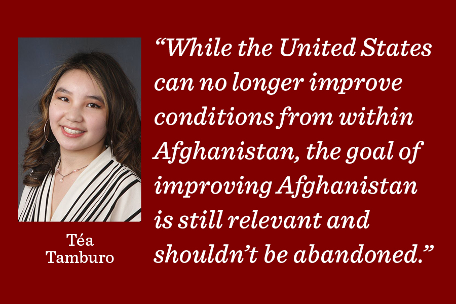 The military exit from Afghanistan was a good choice, but it shouldnt dull us to the continuing need for humanitarian aid in the region, writes Deputy Managing Editor Téa Tamburo.